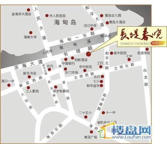 长堤春晓交通图