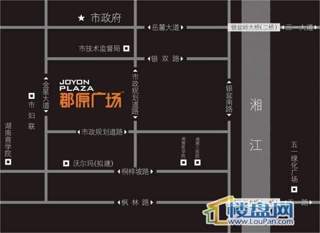郡原广场交通图