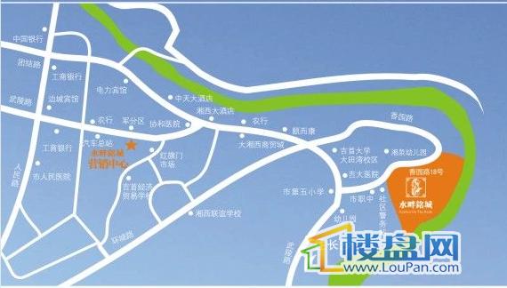水畔铭城交通图