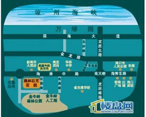 海南奥林匹克花园交通图
