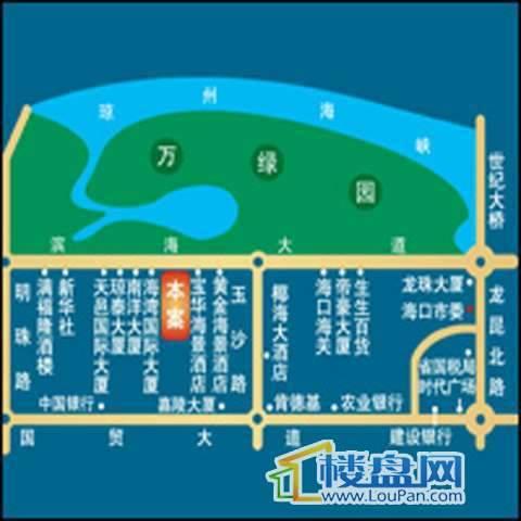 宝华海景公寓2号楼交通图