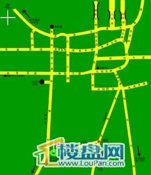 东山湖畔交通图