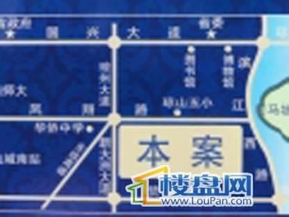 滨江帝景二期交通图