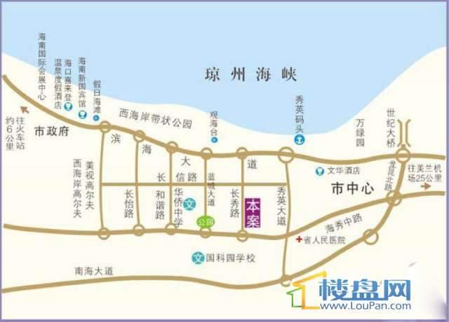 蓝海阳光交通图