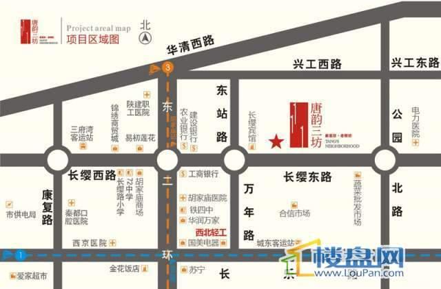 唐韵三坊 交通图