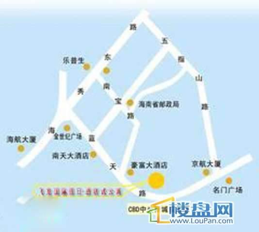 飞龙国际假日酒店公寓交通图