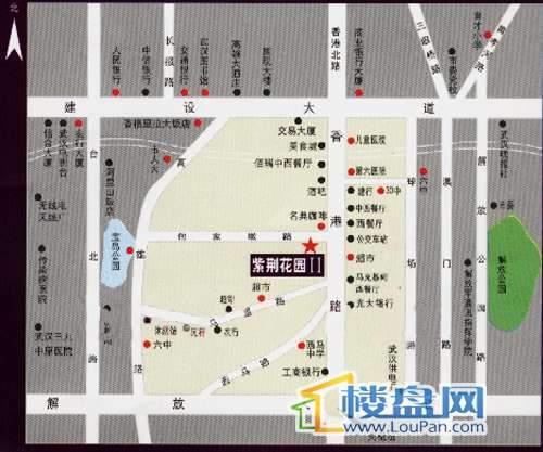紫荆花园II区交通图