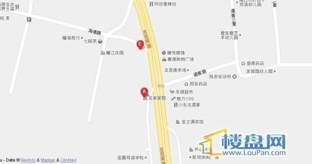 龙泉家园交通图