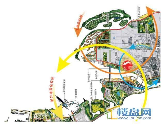 碧海北岸交通图