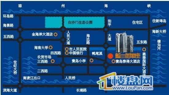 蓝海银座交通图