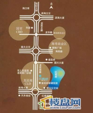 红城湖国际广场交通图