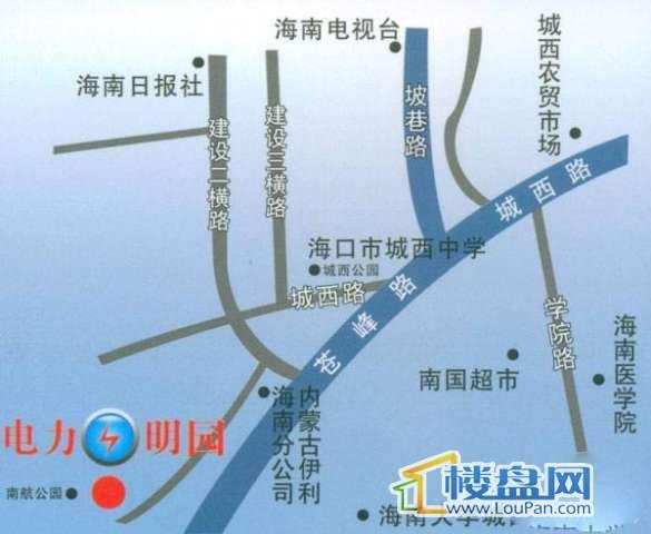 电力明园交通图