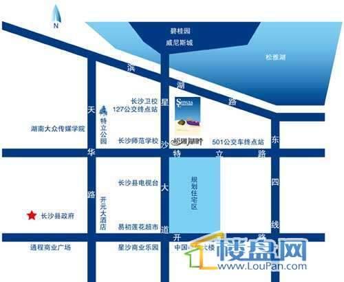 松雅湖畔Ⅱ交通图