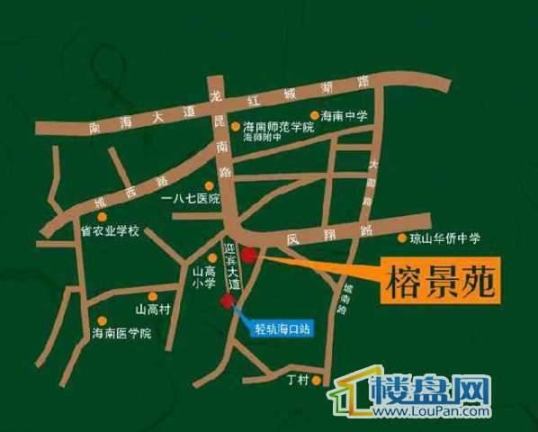 榕景苑交通图