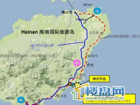 神州半岛朝阳海岸交通图