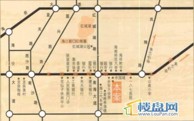 长信左岸国际公寓交通图