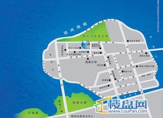 海上明珠交通图