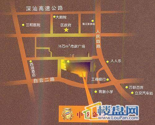 铭豪广场交通图