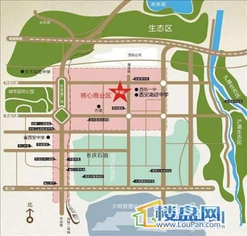 凤城尚街交通图