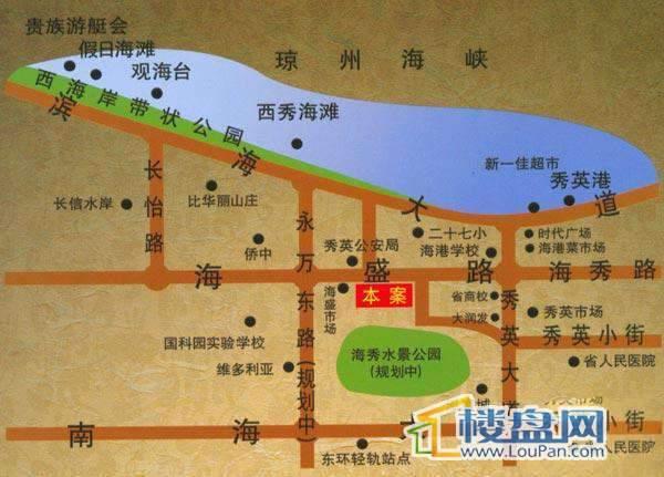 楚欣花园交通图