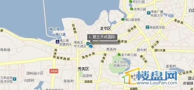 蔚兰天成国际公馆交通图