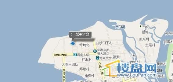 滨海华庭交通图