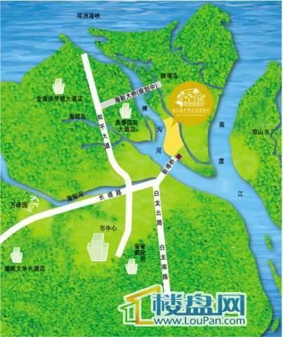 新世界花园度假村交通图