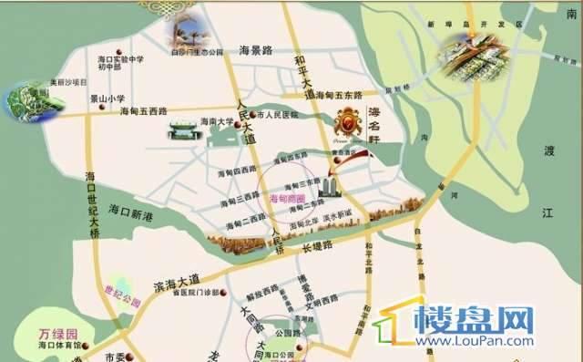 海名轩交通图