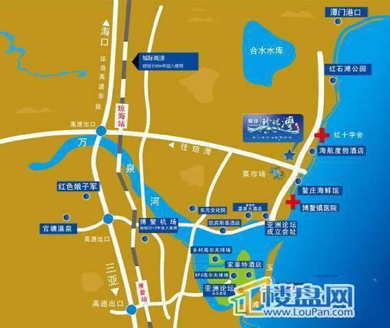 顺泽玲珑湾交通图