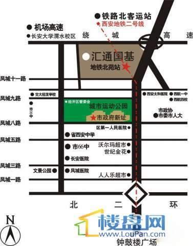 汇通太古城交通图