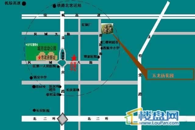 五龙汤花园交通图