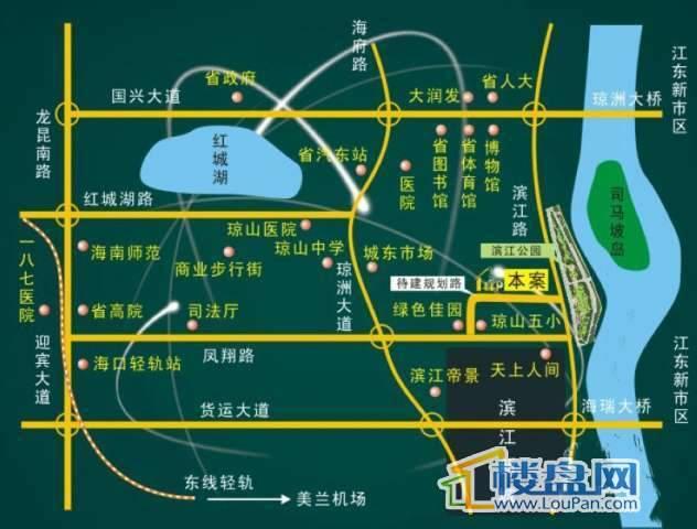 晶莹花园交通图