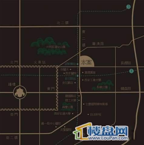 恒基碧翠锦华交通图