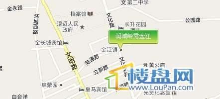 润城岭秀金江交通图
