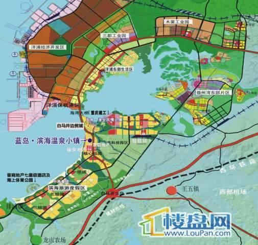 蓝岛·滨海温泉小镇交通图