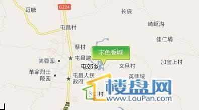 木色香城交通图