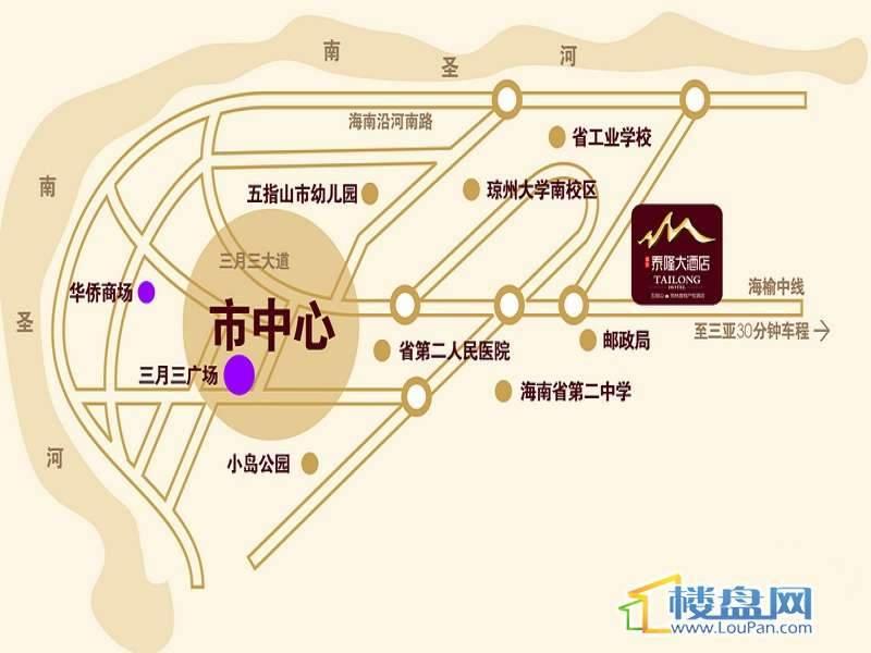 福安泰隆酒店交通图