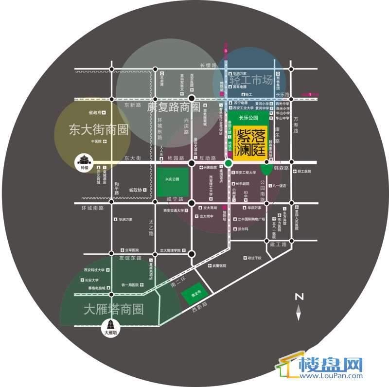 泰华紫落澜庭交通图