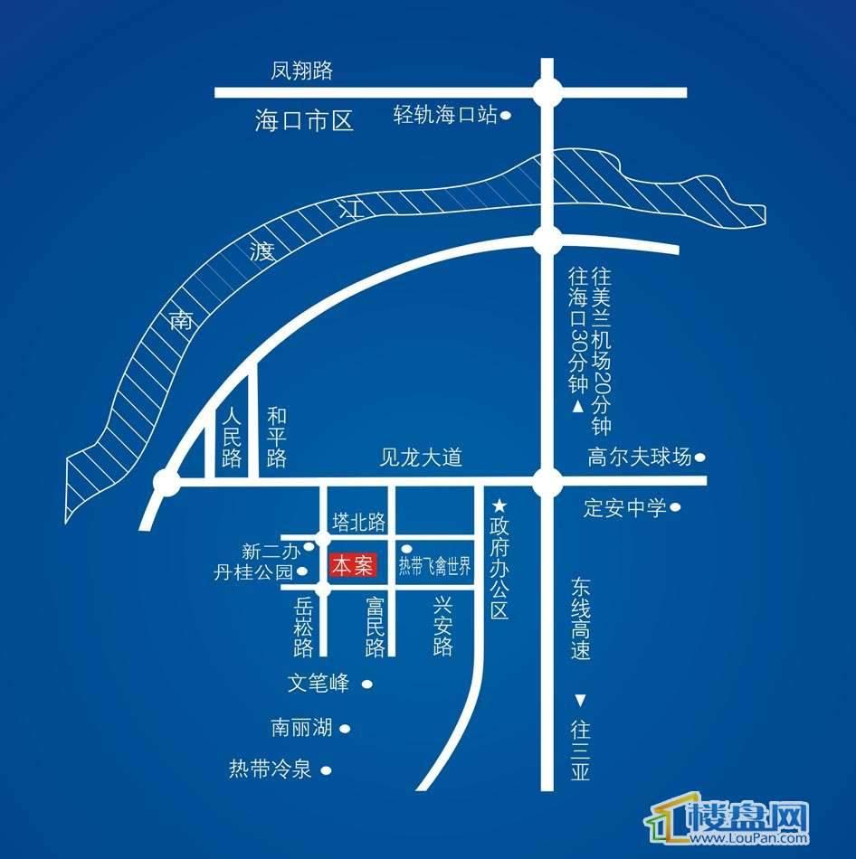 定安香榭水岸交通图