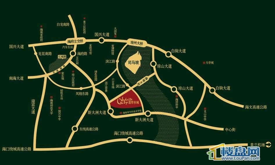联华·翡翠水城交通图