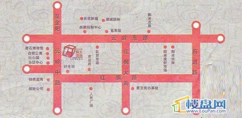 阳光领地交通图
