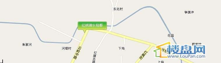 红枫御水铭都交通图