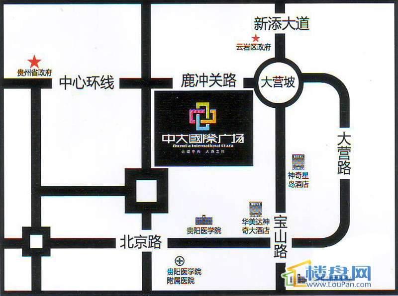中大国际广场交通图