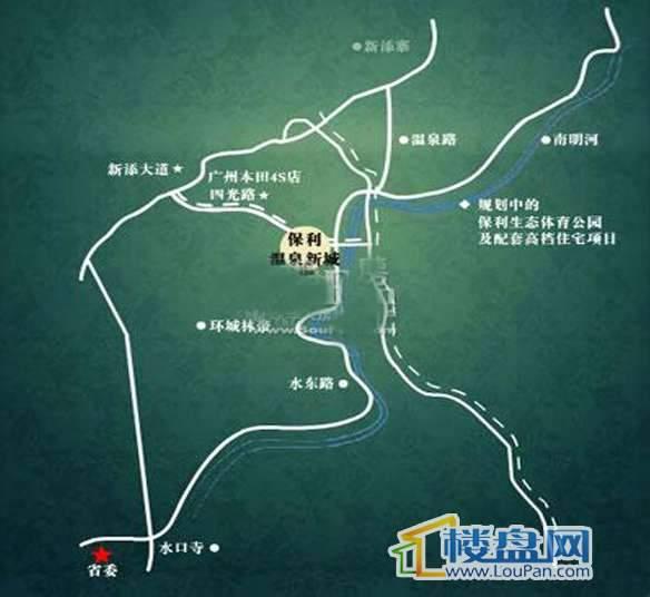 保利温泉新城交通图