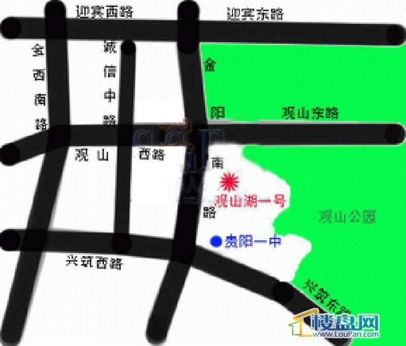 观山湖1号交通图