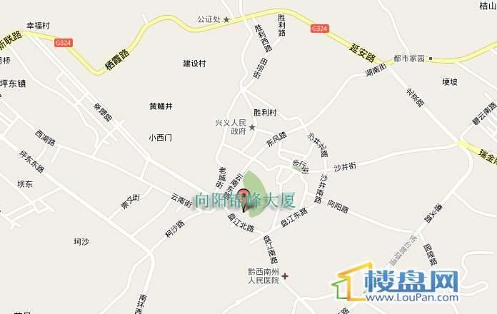 向阳锦峰大厦交通图