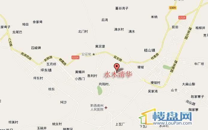 水木清华 交通图