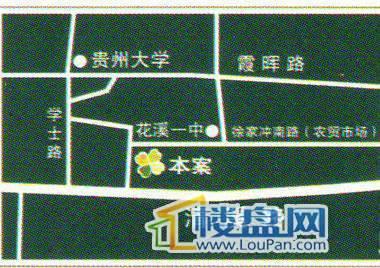 溪城华府交通图