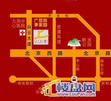 广信四季家园二期交通图