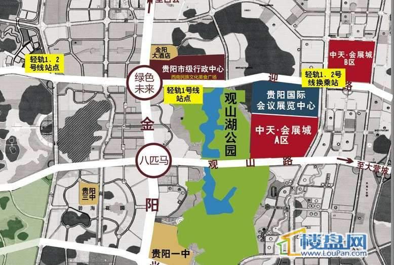 中天会展城交通图